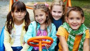 niños en parque diversion